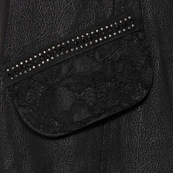 Blazer mit Leder-Optik, schwarz