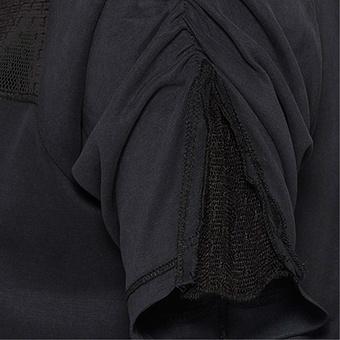 Basic Shirt mit Modal, schwarz