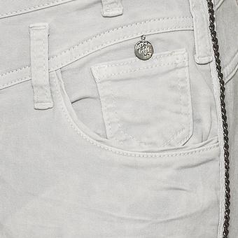 Hose mit Zierkette 70cm, grau
