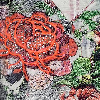 Kapuzenshirt im Alloverprint, silber
