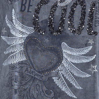Shirt mit Frontprint, night