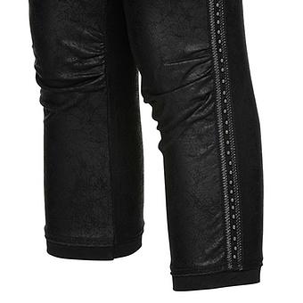 Leggings mit Zierband, schwarz