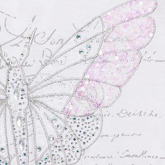 Shirt mit Schmetterlings-Design, weiss