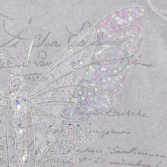 Shirt mit Schmetterlings-Design, silber