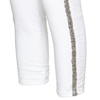 Jeggings mit Pailletten, weiss crashed
