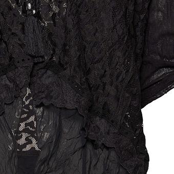 Jacke mit Spitze, schwarz