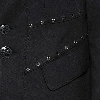 Blazer mit Häkelspitze, schwarz