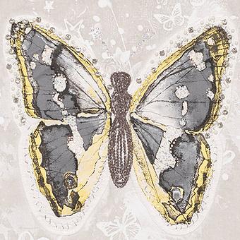 Top mit Schmetterlings-Design, marmor