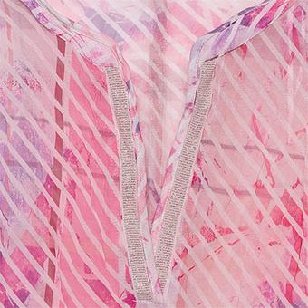 Crash-Bluse im Alloverprint, rosenholz