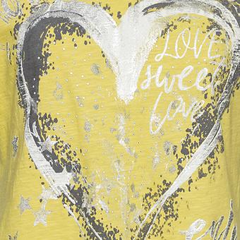 Kapuzenshirt mit Frontprint, lemon