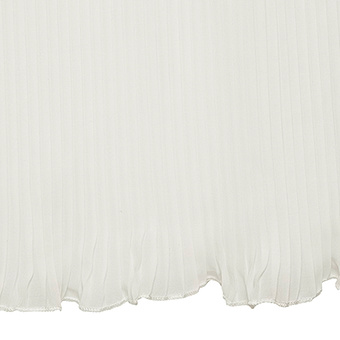 Kleid mit Plissee Chiffonsaum, offwhite
