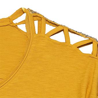Printshirt Cotton/Viskose, curry