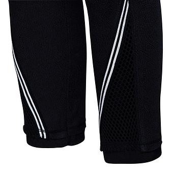 Baumwoll-Leggings mit Netz und Streifenband 64cm, schwarz