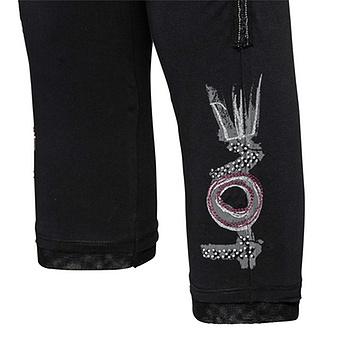Leggings mit Print 55cm, schwarz