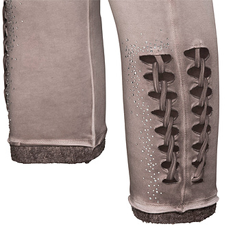 Baumwoll-Leggings mit Schnürung 55cm, antikrose