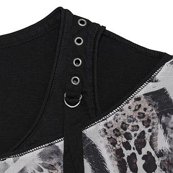 Shirt mit Schulter Cut-Outs, schwarz