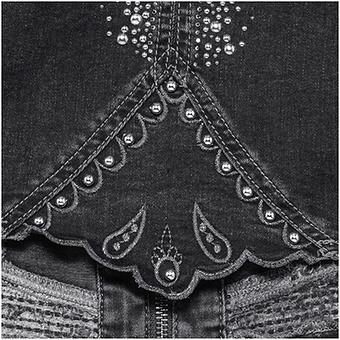 Jeansjacke mit Nieten, dark grey