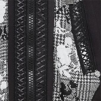 Sweat-Jacke mit Kreuz-Schnürung, schwarz
