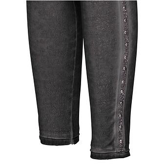 Baumwoll-Leggings in Leder-Optik, magnet