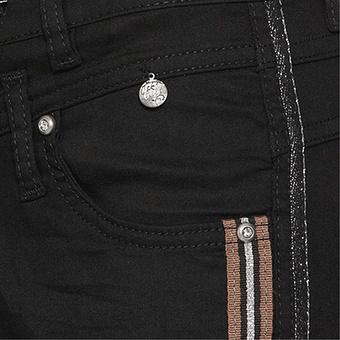 Hose mit Galonstreifen, schwarz