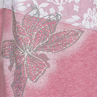 Top mit Patches, pinkrose-melange
