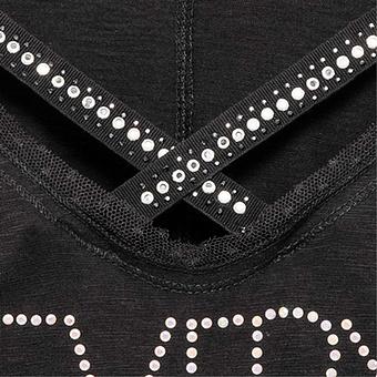 Shirt mit raffiniertem Halsausschnitt, schwarz