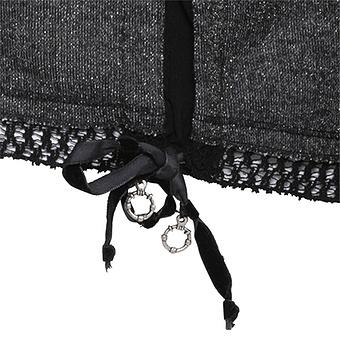 Hoodie mit Netz, anthra