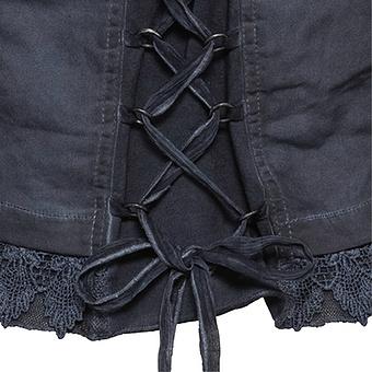 Jeansjacke mit Kreuzschnürung, navy