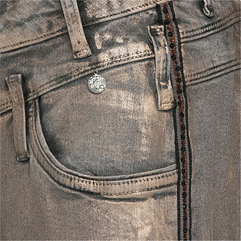 Sweat-Jeans im Metallic-Look 78cm, metallic