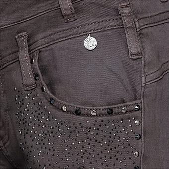 Sweat-Hose mit Glitzersteinchen 80cm, antikrose
