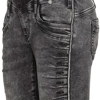 Sweat-Jeans mit Nieten 78cm, grey