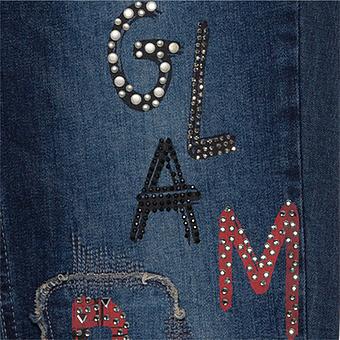 Sweat-Jeans mit Prints 78cm, blue