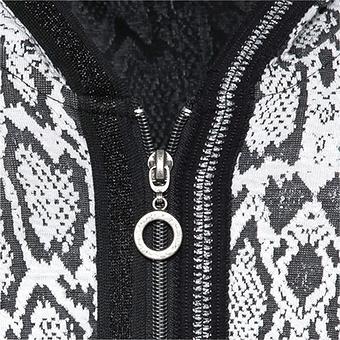 Sweat-Jacke im 3D-Design, schwarz-weiss