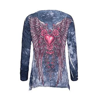 Shirt im Alloverprint, denim