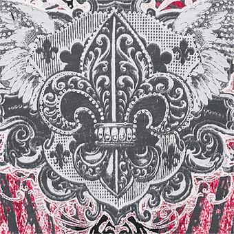 Shirt mit Flügel-Print, schwarz