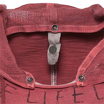 Shirt mit abtrennbarer Kapuze, cranberry