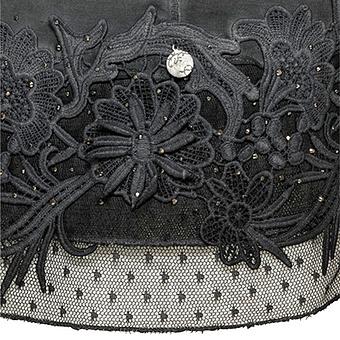 Beruhiger Top mit Floral-Applikation, magnet