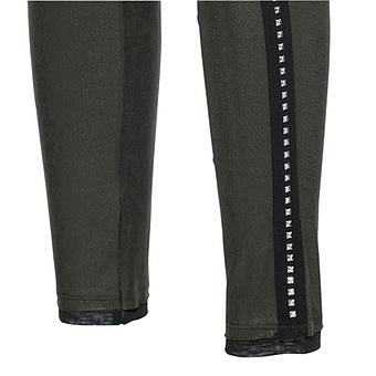 Baumwoll-Leggings mit Leder-Optik 72cm, khaki