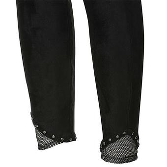 Hose in Wildleder-Optik 72cm, schwarz