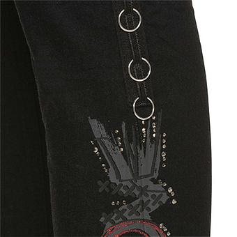 Sweat-Hose mit Ösen 76cm, schwarz
