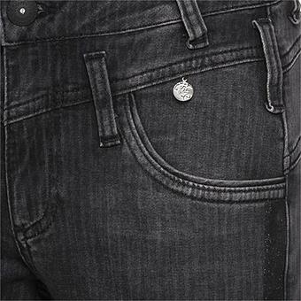 Sweat-Jeans mit Streifen 75cm, dark grey