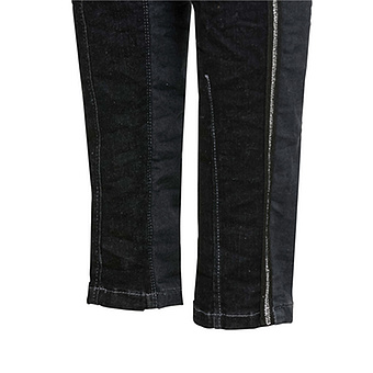 Sweat-Jeans mit Ziertasche 76cm, black