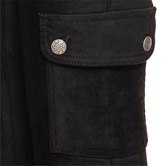 Hose in Wildleder-Optik 76cm, schwarz