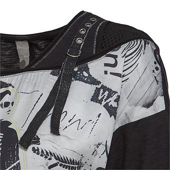 Shirt mit Kreuz-Schnürung, schwarz