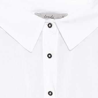 Bluse aus 100% Viskose, weiss