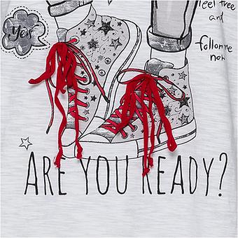 Shirt mit Sneaker-Motiv, weiss