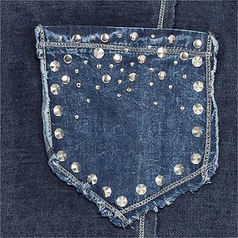 Mantel in Jeans-Optik, denim