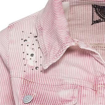 Jacke mit Nadelstreifen, rosenholz