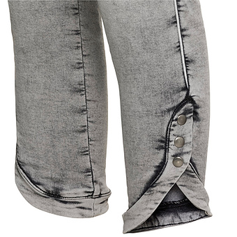 Jeggings mit abgerundetem Saum 62cm, light grey