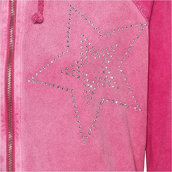 Sweat-Jacke mit Wildleder-Optik, sweetpink